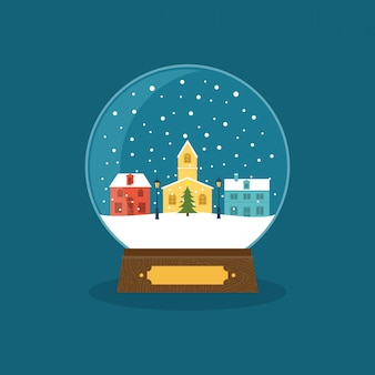 Зима рождество снежный шар