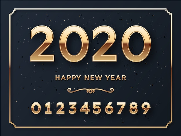 新年あけましておめでとうございます番号テンプレートカード
