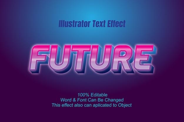 Футуристический текстовый эффект