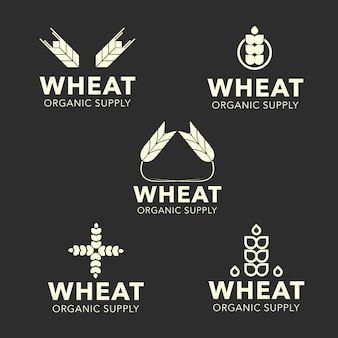 Коллекция логотипов пшеницы