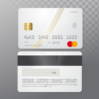 Макет кредитных карт