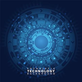 Голубой технологический фон
