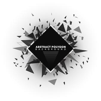 抽象ポリゴンの背景