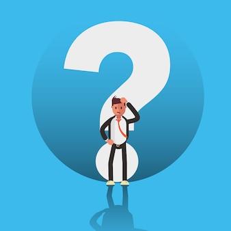 ビジネスマンの文字の疑問