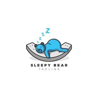 眠そうなクマの背景