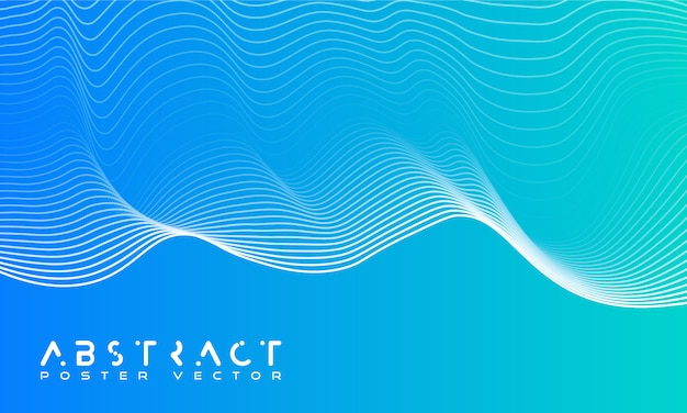 動的な波と明るい抽象的な背景。