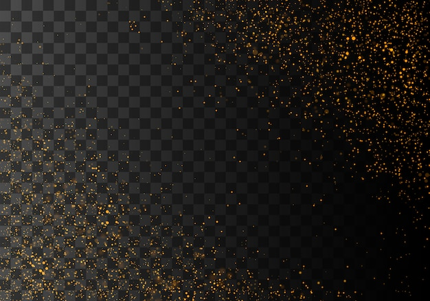黄金の輝く塵