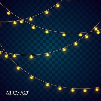 Рождественские огни установлены, светящиеся огни на праздник