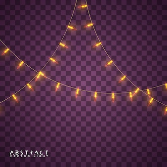 クリスマスライトセット、休日の白熱灯