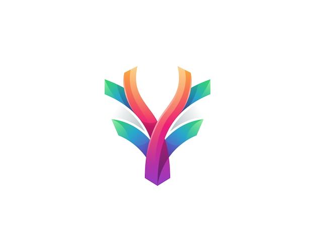 創造的なカラフルな鹿のロゴ