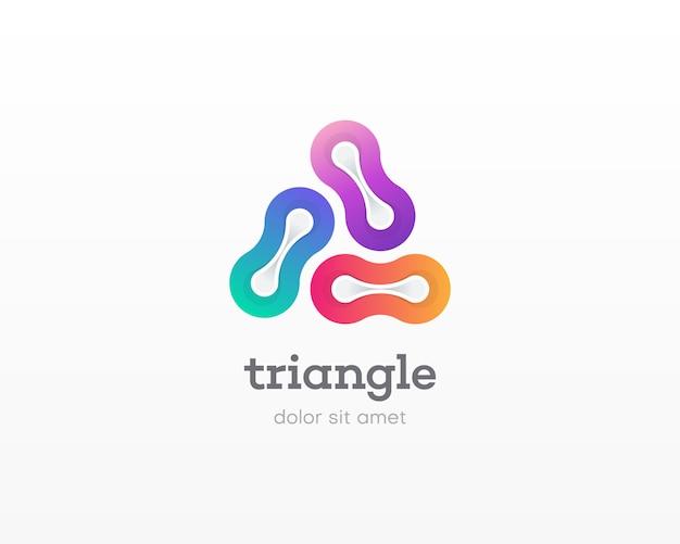 素晴らしいカラフルな三角形のロゴ