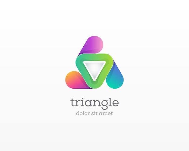 三角形のロゴ。現代のテクノロジー