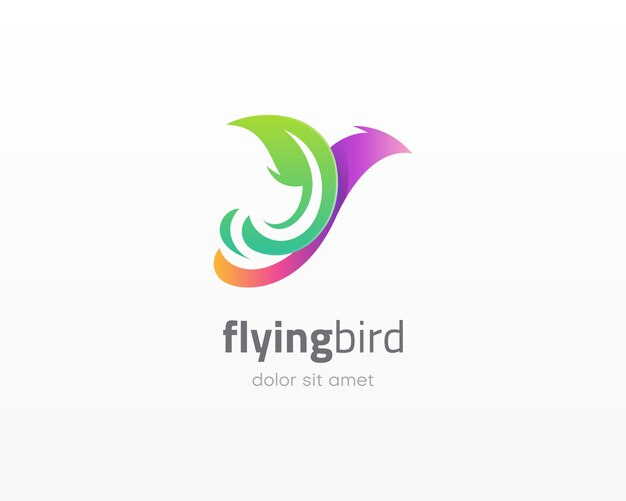 飛んでいる鳥のロゴ