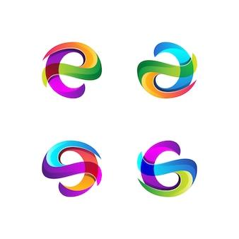抽象的なカラフルなロゴの形のコレクション