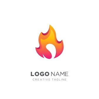 Абстрактный огненный логотип