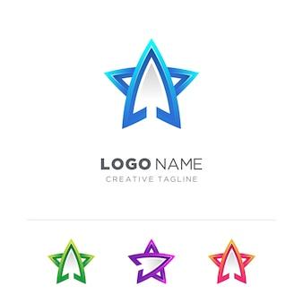 矢印の付いた星のロゴ