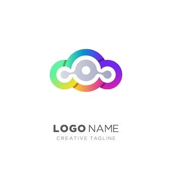 カラフルなクラウドのベクトルのロゴ