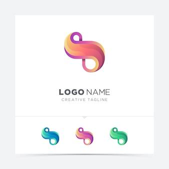 Абстрактное письмо бесконечность логотипа вариация