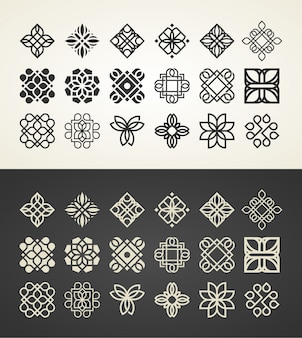 飾りのロゴのテンプレート