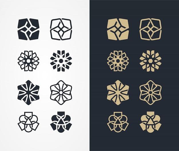 Шаблон логотипа орнамент
