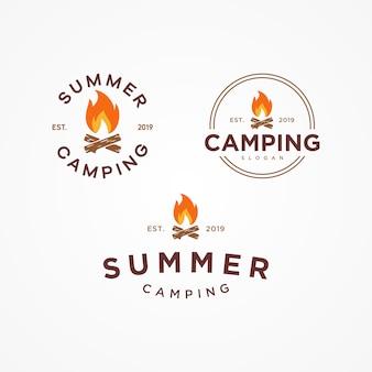 Кемпинг летний логотип