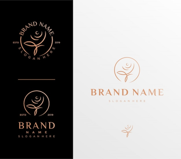 Шаблон логотипа цветок розы