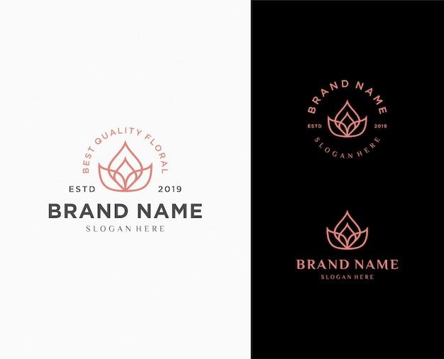 Цветочный абстрактный шаблон логотипа