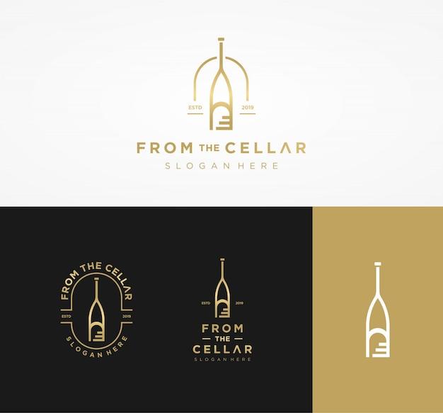 セラーのロゴからのワイン