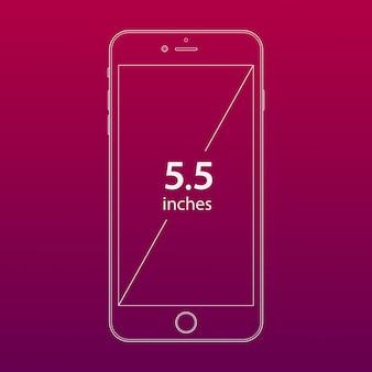 ピンクの携帯電話の広告