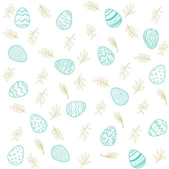 ハッピーイースターの卵のパターン