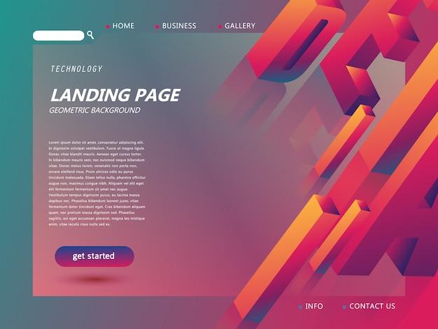 ウェブサイトのランディングページテンプレート