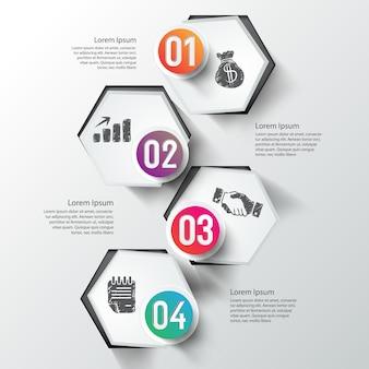 ビジネス情報グラフィックテンプレート