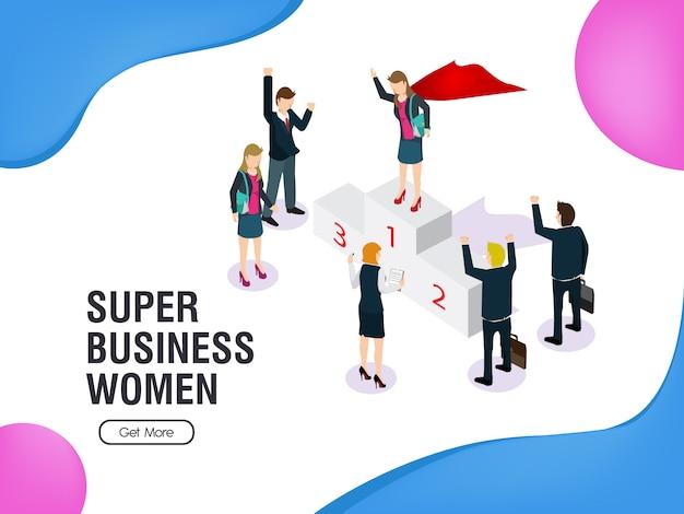 スーパービジネス女性の平等と業績
