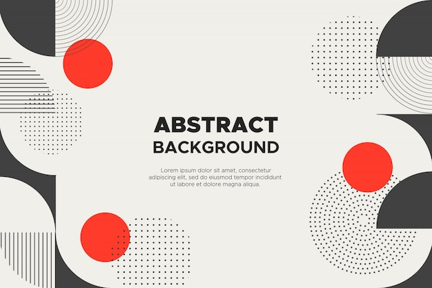 幾何学的図形と抽象的な背景