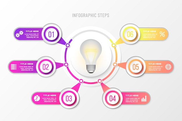 カラフルなビジネスのインフォグラフィック