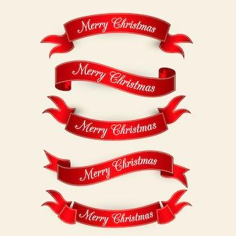 赤いエレガントなクリスマスコレクション