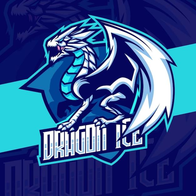 Дракон талисман кибер дизайн логотипа