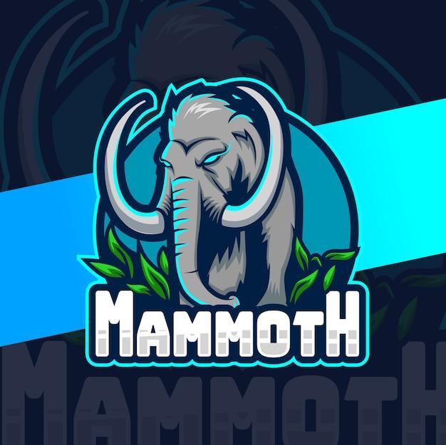 Мамонт талисман дизайн логотипа