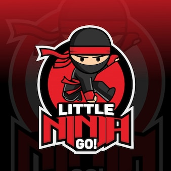 小さな忍者マスコットのロゴデザイン