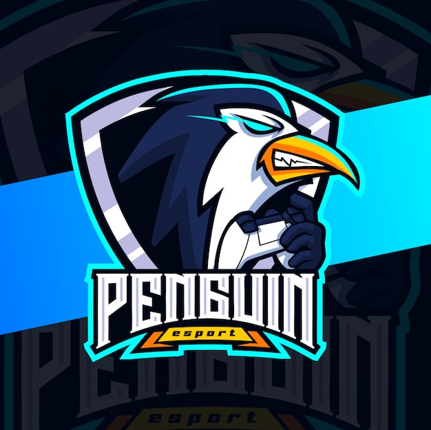 Дизайн логотипа талисмана пингвина