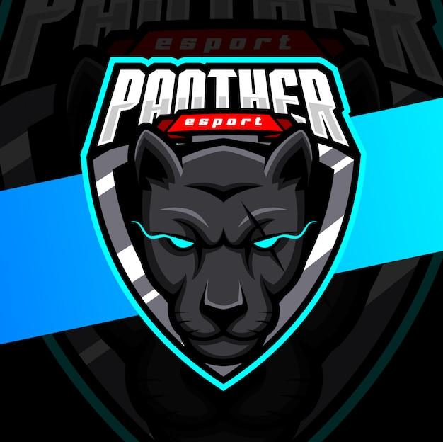 Талисман пантеры кибер дизайн логотипа