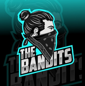 Бандиты талисман киберспорт логотип