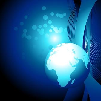 ベクトル青地球