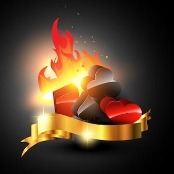 Элементы казино на огне