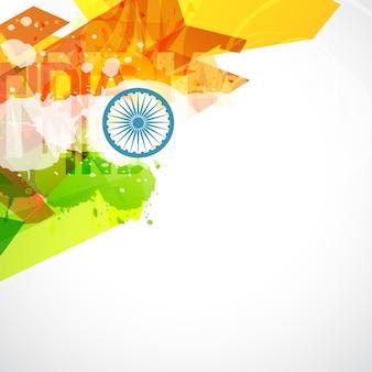 抽象的なスタイルのインドの国旗イラスト