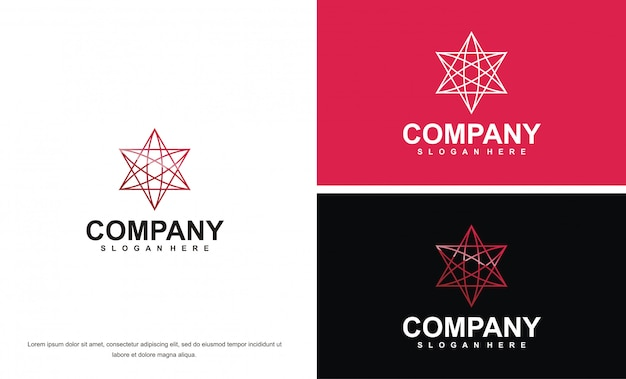 Медицинский шаблон логотипа для компании премиум