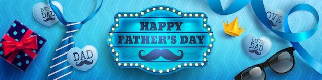 Счастливого дня отца баннер