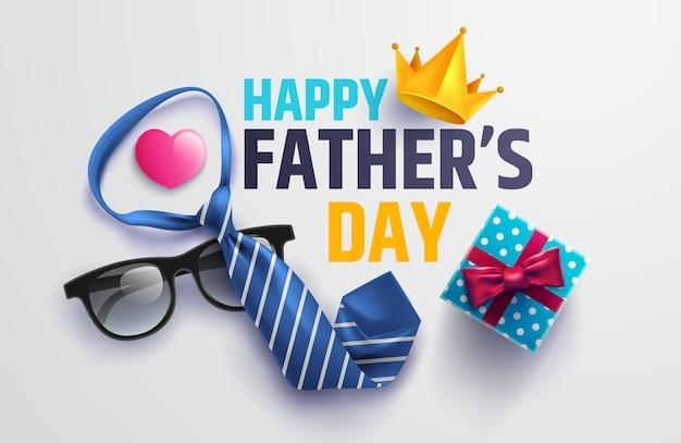 Счастливый день отца иллюстрация