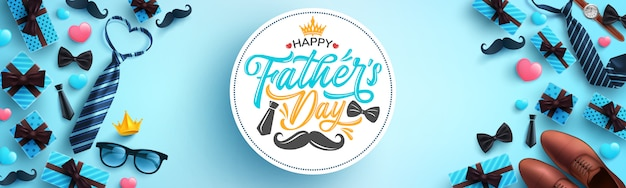 幸せな父の日のお祝いの挨拶。