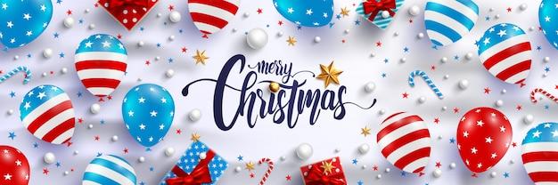 メリークリスマスと新年のポスター